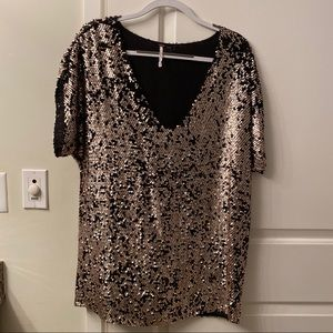 Gold/black sequin dress - perfect for NYE!